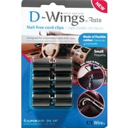 D-WINGS AUTO CORD CONTROL, SMALL, BLACK, SET OF 6