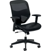 HON Prominent Mesh High-Back Task Chair, Center-Tilt, Adjustable Arms, Black Mesh NEXT2018 NEXT2Day