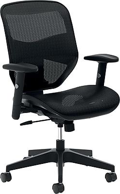 HON Prominent Mesh Task Chair, Adjustable Arms, Black (BSXVL534MST3)