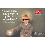 Staples® Thomas Edison Gift Cards