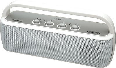 Jensen Portable Wireless Bluetooth Speaker, White