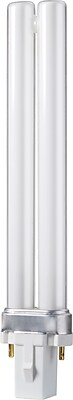Philips Compact Fluorescent PL-S Lamp, 13 Watts, 2-Pin, Neutral White, 10PK