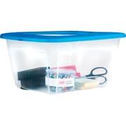 Bella Storage Solution® 14 Quart Plastic Flat Lid Tote (27593)