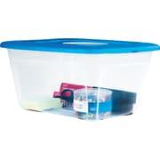 Staples 14 QT Plastic Flat Lid Tote (27593)