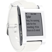 Pebble - Montre intelligente 301WH pour dispositifs iPhone et Android, blanc