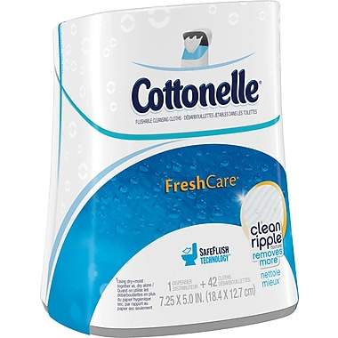 Kleenex® Cottonelle® Flushable Cleansing Cloths Dispenser