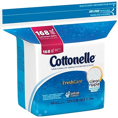 Kleenex® Cottonelle® Flushable Cleansing Cloths, 168/Pack