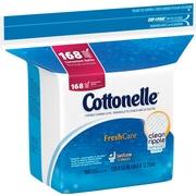 Cottonelle Flushable Cleansing Cloths, 168/Pack