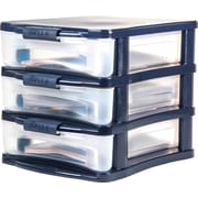 Bella Medium Desktop Plastic Storage Drawer, 3 Drawer (28776)