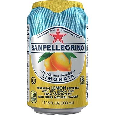 SANPELLEGRINO Sparkling Fruit Beverages, Limonata/Lemon 11.15-ounce Can, 12/Pack
