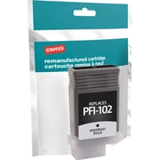 Staples® Remanufactured Inkjet Cartridge, Canon PFI-102, Black