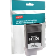 Staples® Remanufactured Inkjet Cartridge, Canon PFI-102, Matte Black