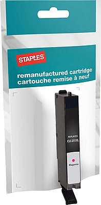 Staples® Remanufactured Inkjet Cartridge, Canon PFI-102, Magenta