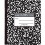 "Roaring Spring Paper Products Black Marble Composition Book, 8 1/2"" x 7"", 36 Sheets, Flexible Covers with Square Corners"