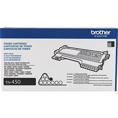 Brother TN-450 Toner Cartridge, Black, High Yield
