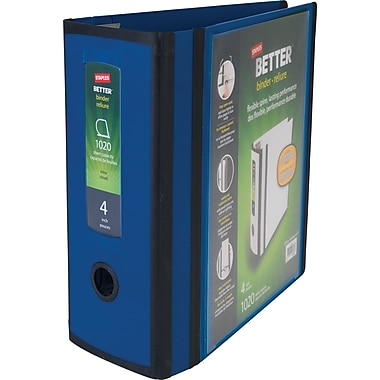 Staples Better 4-inch 3 Ring View Binder, Blue