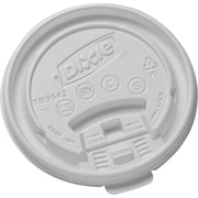 GP PRO Dixie® Large Tear Back Plastic Hot Cup Lid, White, 1000 CT