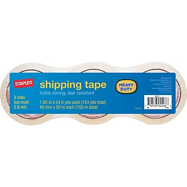 Heavy Duty Shipping Packing Tape, 1.88