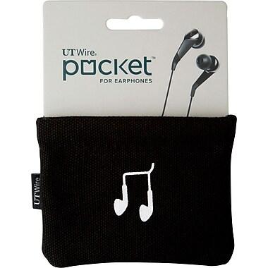 POCKET FOR EARPHONE, BLACK