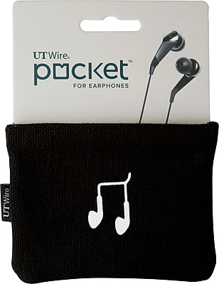POCKET FOR EARPHONE, BLACK