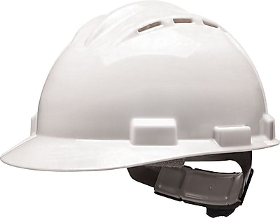 BULLARD Polyethylene & Plastic Hard Hat White Standard