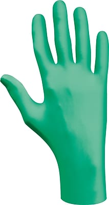 SHOWA® 1005 Natural Rubber Green Latex Ambidextrous Grade Lightly Powdered Disposable Gloves, 20/Box