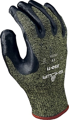 Best Manufacturing Company Black & Yellow Open Back 12 / Pack Palm Coated Gloves, Large