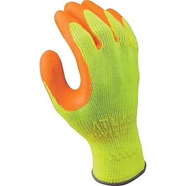 Best Manufacturing Company Orange & Yellow Flat Dipped 12/Case HI VIZ Grip Gloves, S