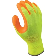 Best Manufacturing Company Orange & Yellow Flat Dipped 12/Case HI VIZ Grip Gloves, S