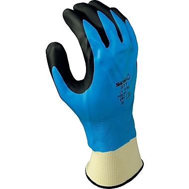 Best Manufacturing Company Black & Blue Liquid Resists 1 Pair Palm Coated Glove, 2XL