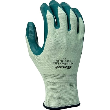Best Manufacturing Company Green Breathable 12/Case Flex Lite Gloves, L