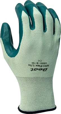 Best Manufacturing Company Green Breathable 12/Case Flex Lite Gloves, M