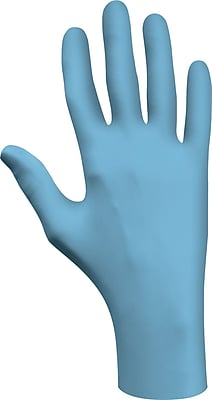 Best Manufacturing Company Blue Low Modulus 100/Box Powder Free Disposable Gloves, XL