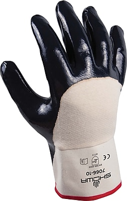 Best Manufacturing Company 1 Pair Coated Work Gloves, Blue & White