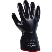 Best Manufacturing Company Navy Gauntlet Cuff And Smooth Finish Fully Coated Work Glove