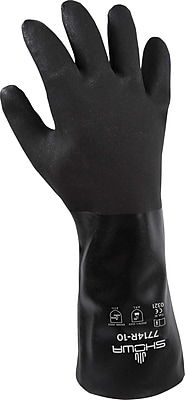 Best Manufacturing Company Black Chemical Resistant 12/Pack Large Gloves