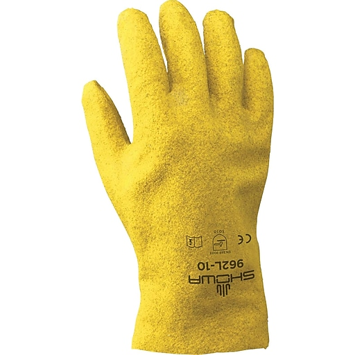 Best Manufacturing Company Yellow Pvc Coated 12 Pack Heavy Duty Work