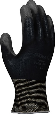 Best Manufacturing Company Black 16/pair Palm Coated Work Gloves, M