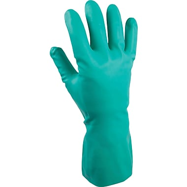 Best Manufacturing Company Green Chemical Resistant 1 Pair Nitrile Gloves, M