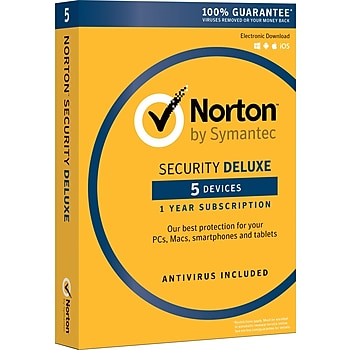 Norton Security Deluxe Antivirus Software (5 Devices/1 User)