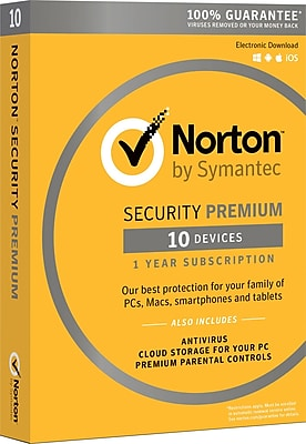 Norton Security Premium 10 Devices (1 User) [Product Key Card]