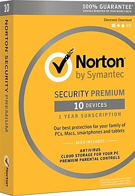 Symantec™ Norton™ Premium Security with Backup Software, Windows/Mac (21351350)