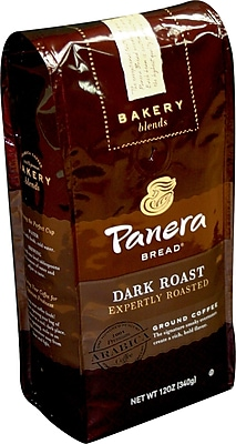 Panera Ground Coffee, Dark Roast, 12 Oz Bag