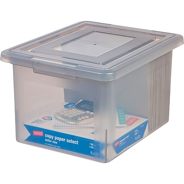 Staples® Letter/Legal File Box, Gray Frost (140087)