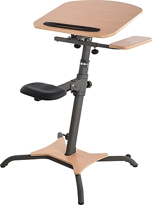 Stamina WIRK Work Station Sit & Stand Desk, Beige (85-4000)