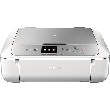 Canon PIXMA MG5722 Inkjet All-in-One Printer, Silver and White (0557C062)
