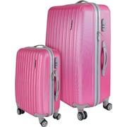 InUSA Houston Collection Pink lightweight ABS 2 pc Luggage Set (IUHOU0SB-PNK)