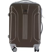 InUSA Boston Collection Brown lightweight ABS 18.3 inch Carry-On Luggage (IUBOS00S-BRO)