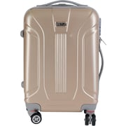 InUSA Boston Collection Gold lightweight ABS 18.3 inch Carry-On Luggage (IUBOS00S-GLD)