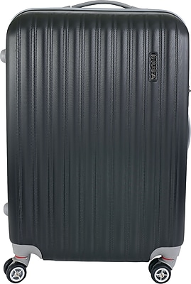 InUSA Houston Collection Black lightweight ABS 23.4 inch Luggage (IUHOU00M-BLK)
